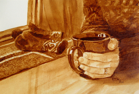 Gallery coffee art for Painting with coffee
