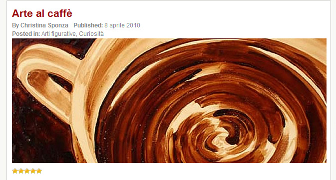 Coffee Art® was featured on Amici del Caffe