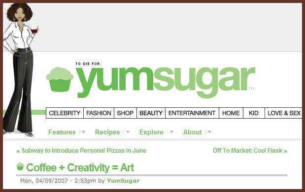 YumSugar features Coffee Art