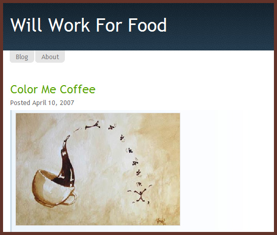 Will Work For Food features Coffee Art