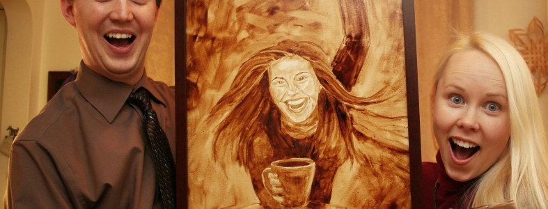 Coffee Art Rachael Ray Painting