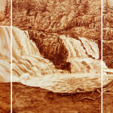 Coffee Art Gooseberry Falls Triptych