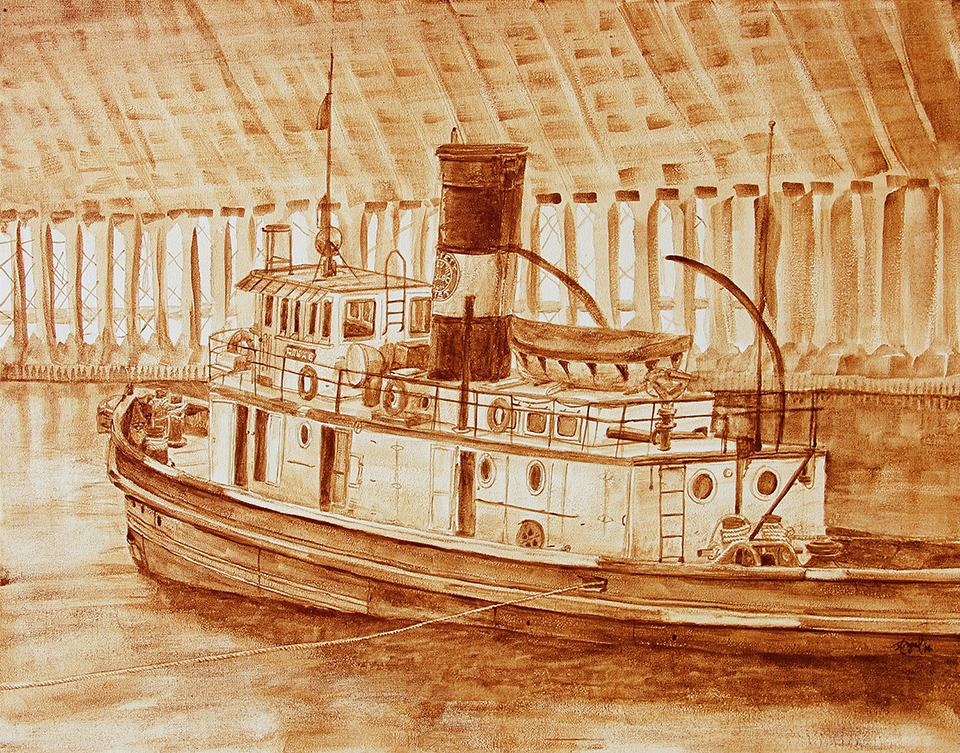 Coffee Art Historic Edna G