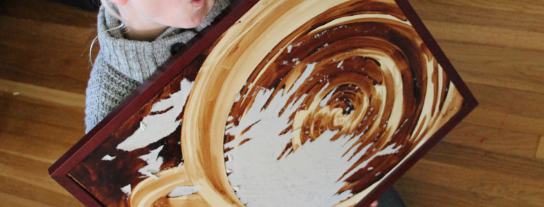 Coffee Art Tremors Restoration Damaged