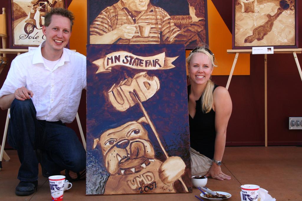 Coffee Art at UMD Alumni Art Night